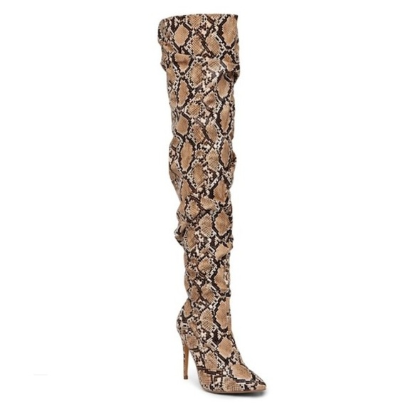 75cddd22ec1 Liliana Shoes - New Liliana Over the Knee Snake Skin Boots